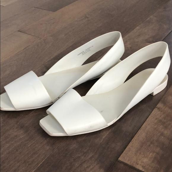 0f574e77dc Charles & Keith Shoes | Charles Keith White Flat Slingback | Poshmark